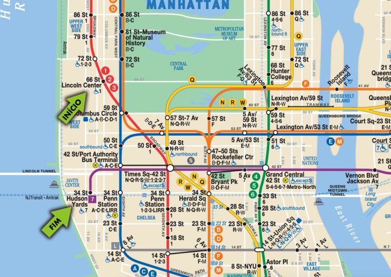 Mapa do metrô - Exercício 2 do metrô