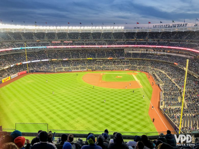 o estádio visto de cima.