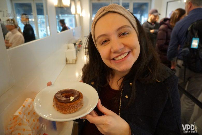 o famoso cronut, uma das comidas deliciosas de Nova York