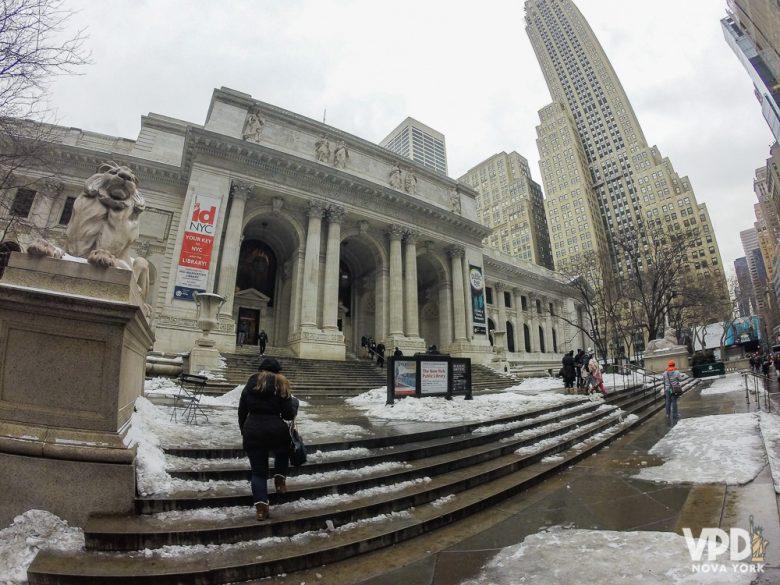 Vale tomar cuidado com o chão, que fica super escorregadio nos dias de neve