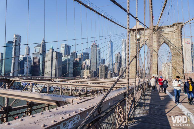 Dá pra cruzar a ponte no inverno, mas se prepare pra passar bastaaaante frio!