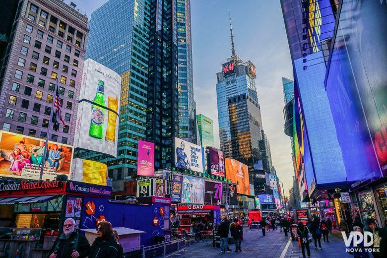 A Times Square é uma das atrações clássicas, né?