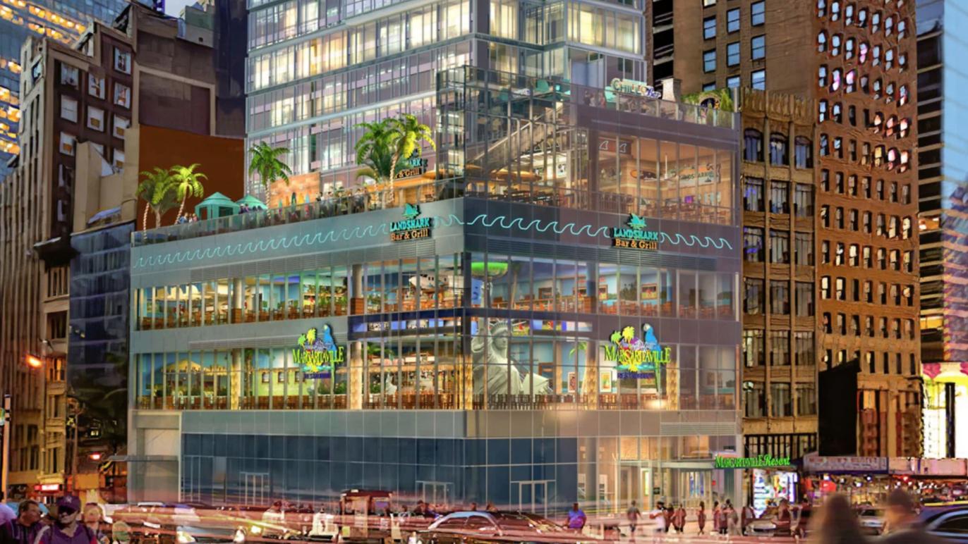 projeto do novo hotel da Margueritaville na Times Square