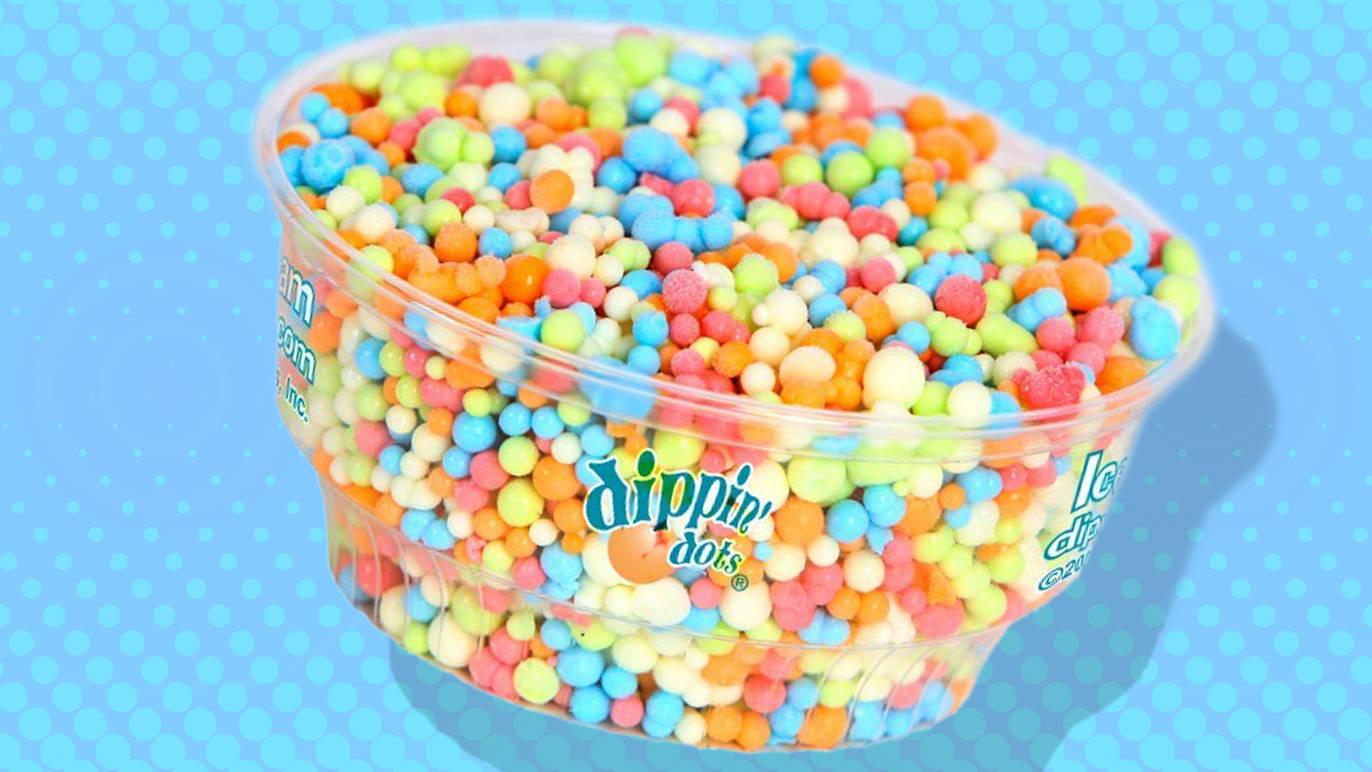 pote de sorvete da dipping dots